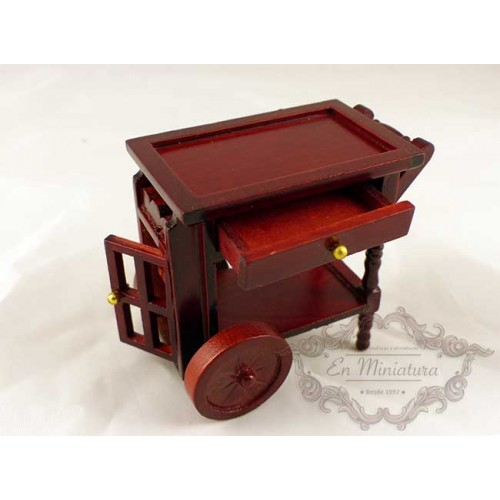 Mahogany waitress cart