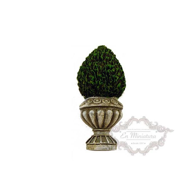 Macetero con arbusto-entradas de casas de maquetas