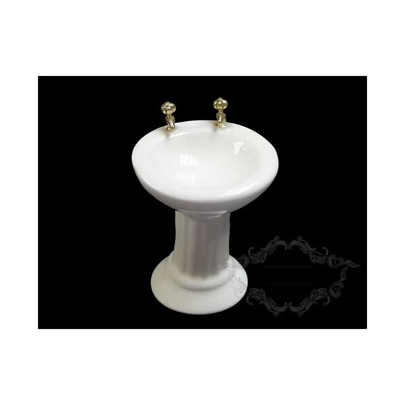 Lavabo de porcelana para escenas de baño