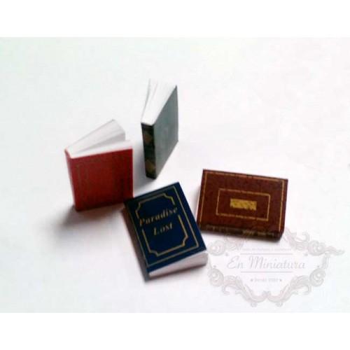 Libros con hojas 4 unidades para escenas en miniatura