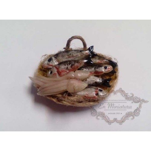 Basket with fish