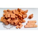 Brick for model in clay 100 units