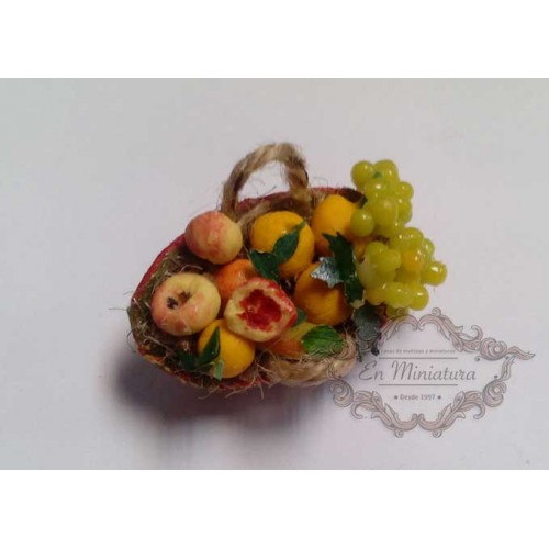 Basket of assorted fruits