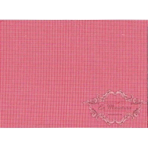 Red and white square fabric
