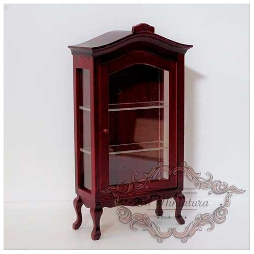 Display cabinet with mahogany shelves