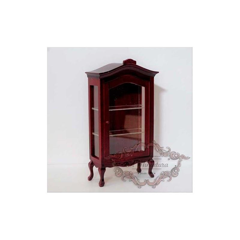 Display cabinet with mahogany shelves