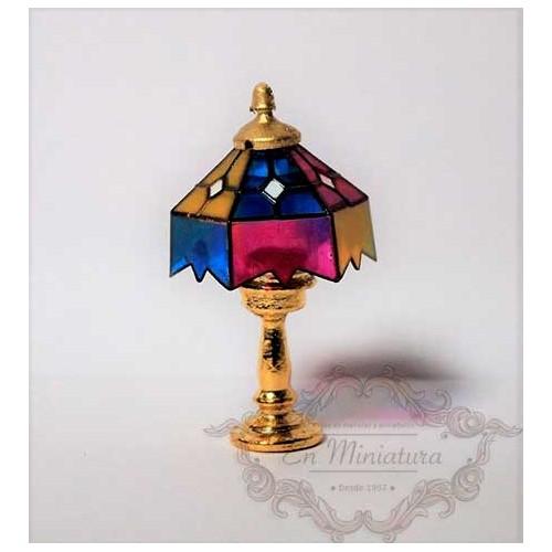 Lámpara de mesa sin luz, Tiffany colores