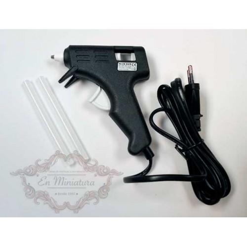 Pistola silicona pequeña para hobby creativo
