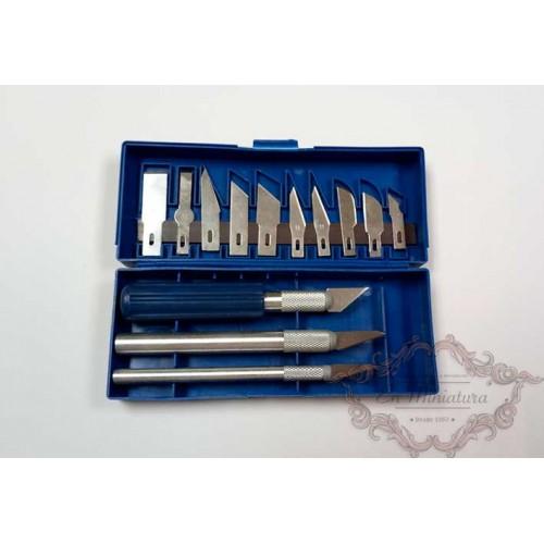 Estuche de cúters y recambios de cuchillas