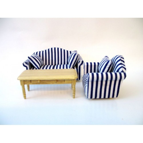 Conjunto de sillónes de rayas