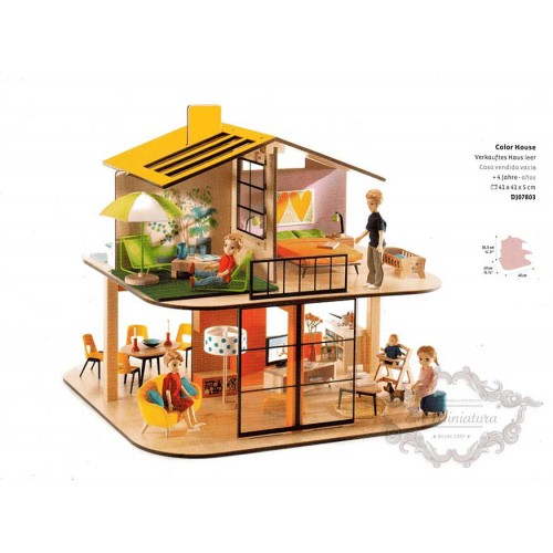 Modern dollhouse, House of colors