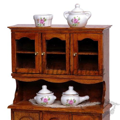 Porcelain Set 4 pieces Pink