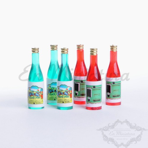 Botellas de Vino 6 Piezas