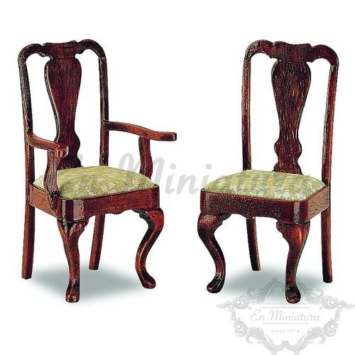 Sillas con Brazo Queen Anne (2 piezas)