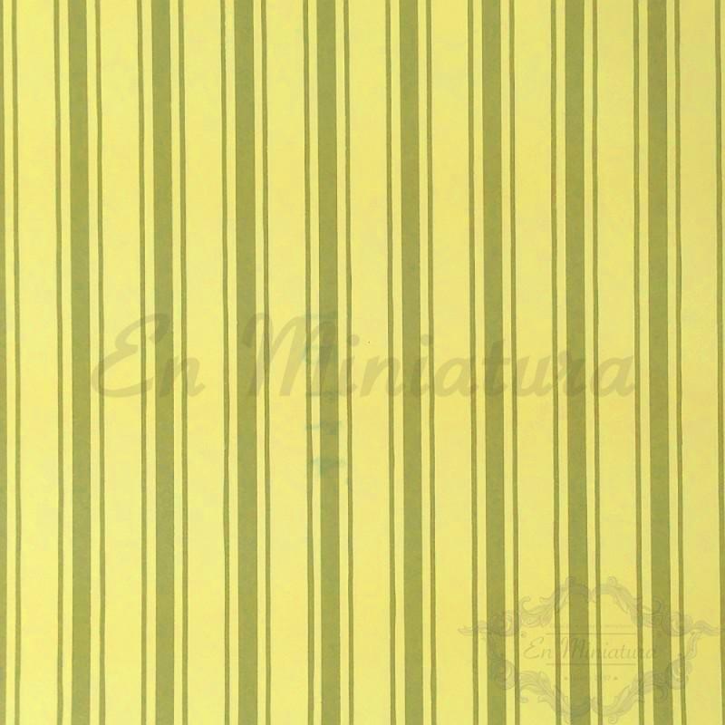 Papel Pintado a Rayas fondo Amarillo