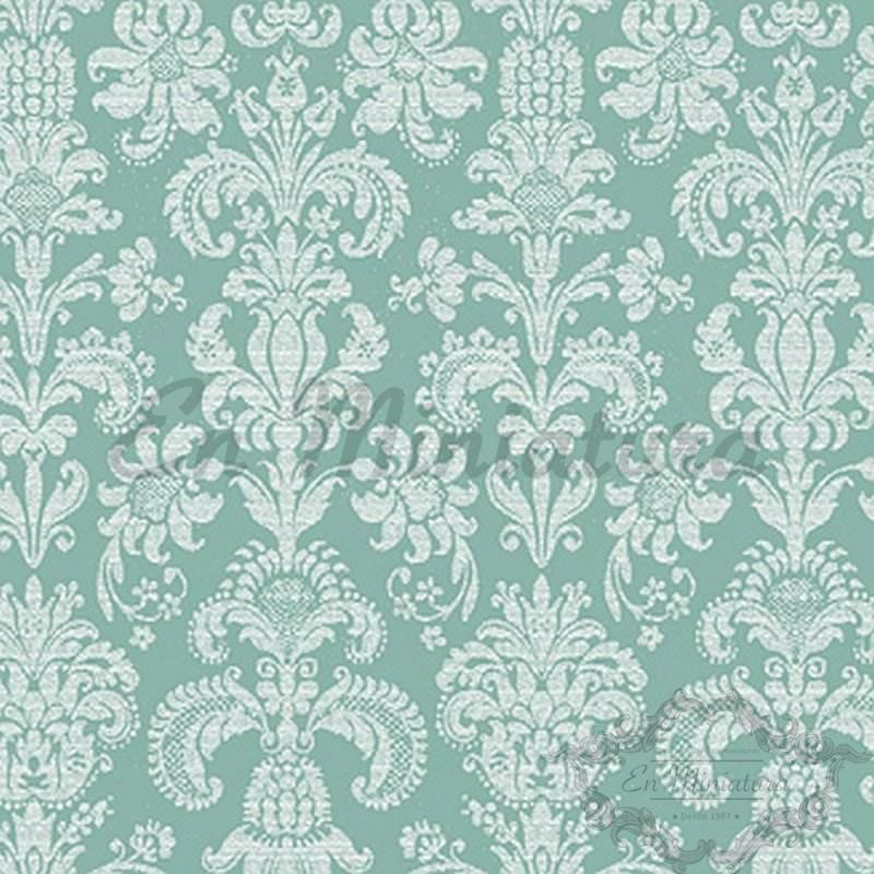 Papel Pintado Patrón Floral Verde Lima