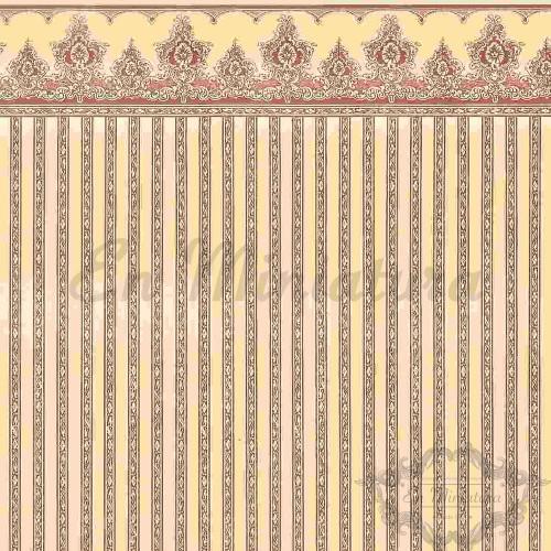 Papel Pintado Raya Borgoña
