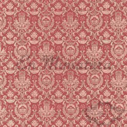 Fountain Motif Wallpaper Old Pink
