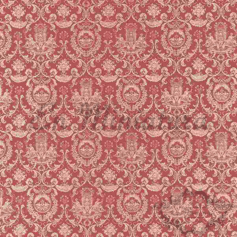 Papel Pintado Motivo Fuente Rosa Viejo