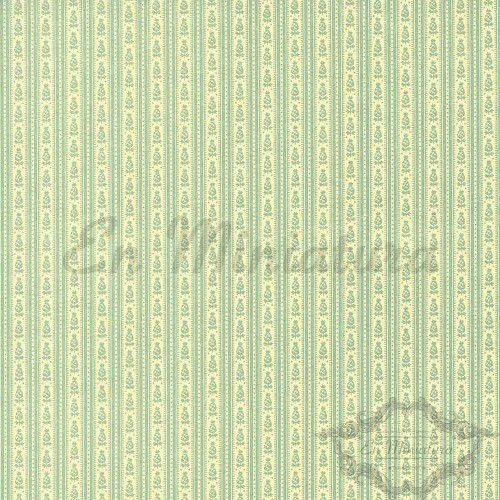 Striped Wallpaper Lime-Green