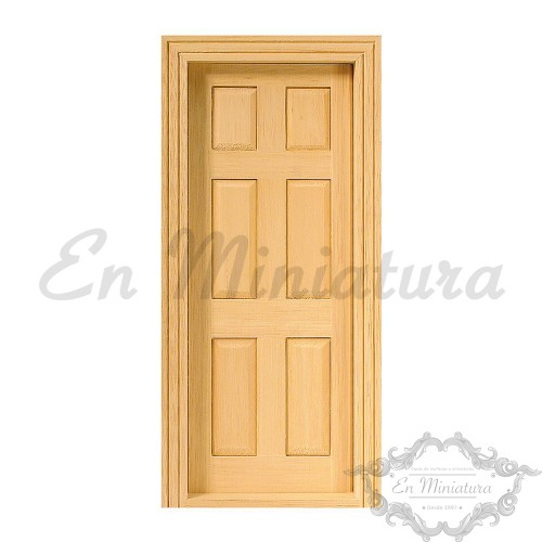Panel Door Natural Wood