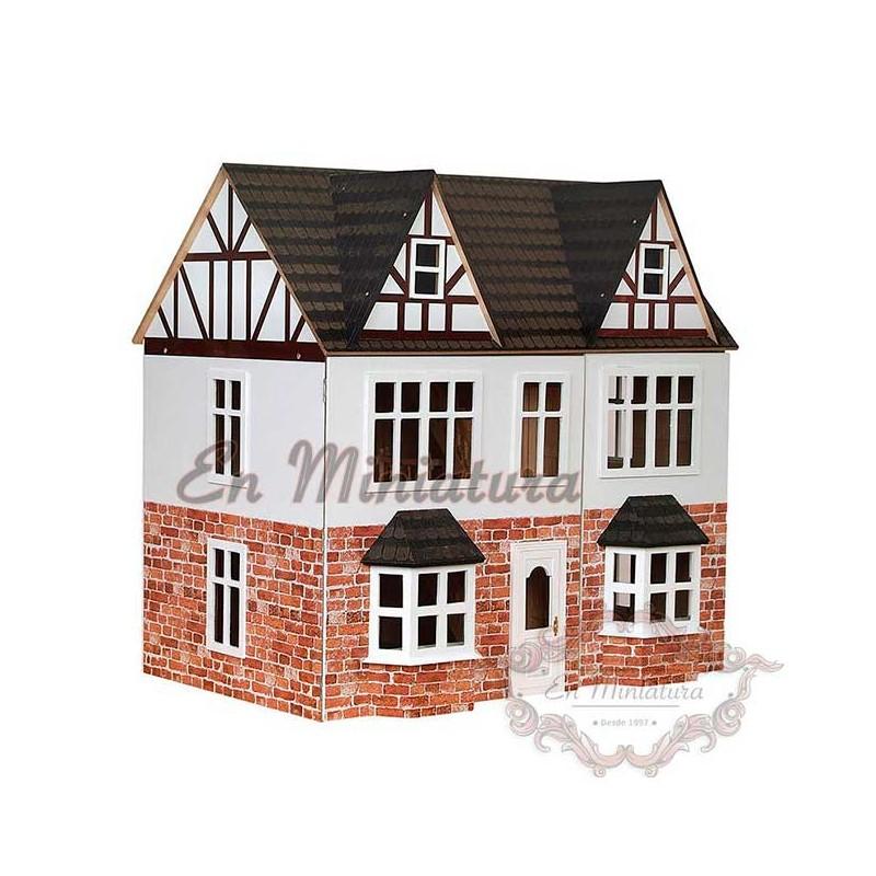Casa de muñecas de campo o en estilo rural, casas de muñecas baratas ...