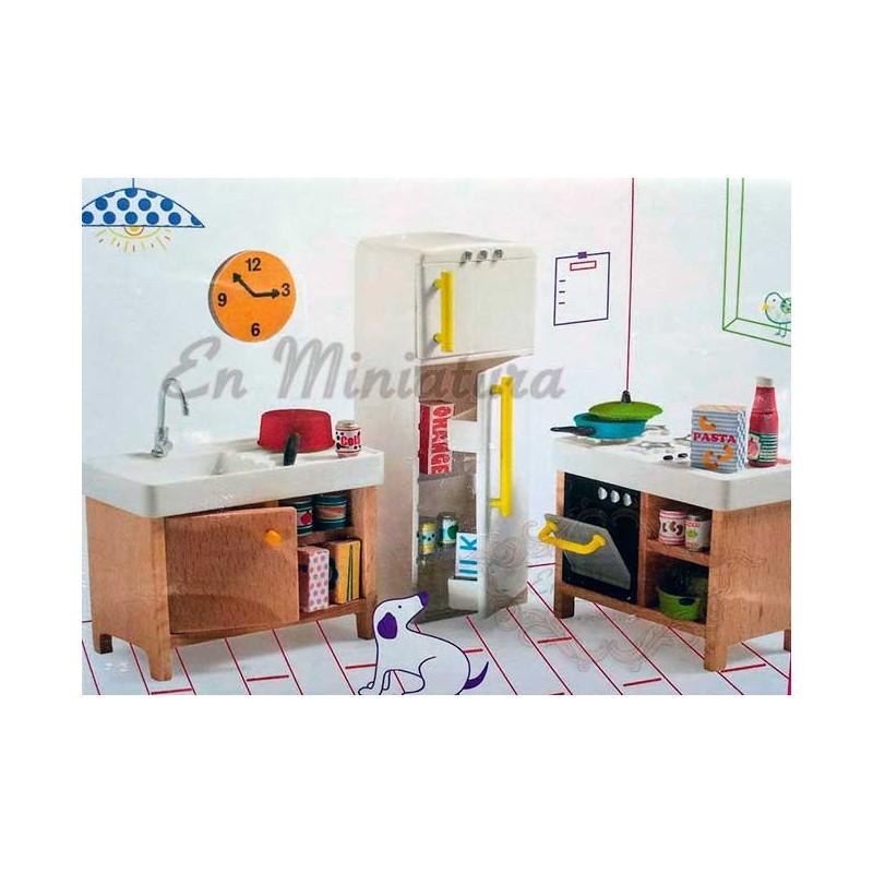 Muebles para casas de muñecas infantiles, para que jueguen los niños