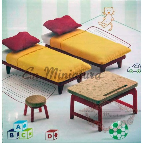 Dormitorio doble infantil para casitas