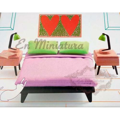 Dormitorio matrimonio, muebles para casas de muñecas