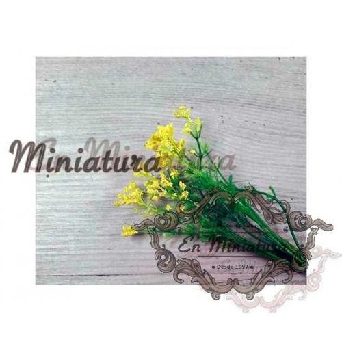 Ramas de flores amarillas