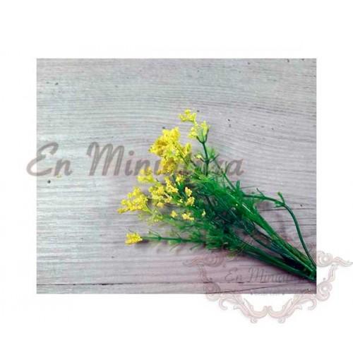 Ramas de flores amarillas para miniaturas