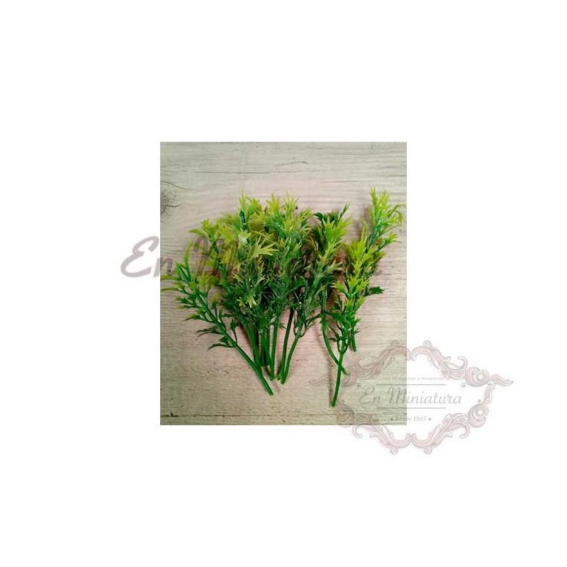 Ramas de hojas verdes para belenes y maquetas