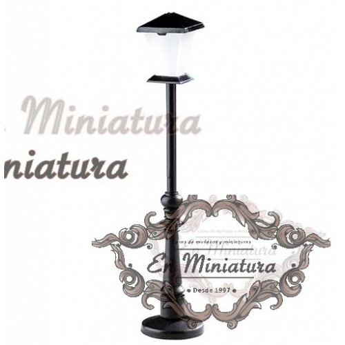 Lamppost in metal with light, street
