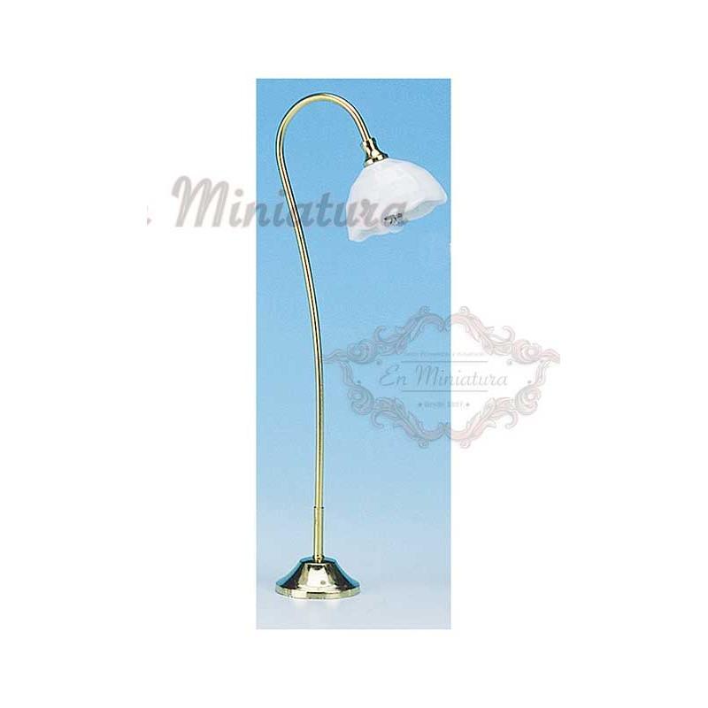 White porcelain floor lamp