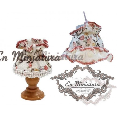 Set of lamps dolls houses in cloth