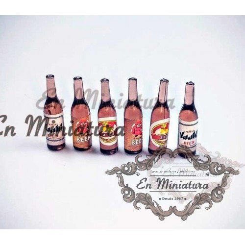Cervezas en miniatura
