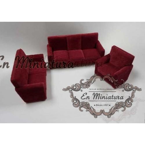 Garnet velvet armchairs set