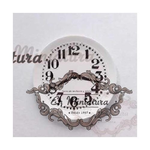 Reloj de pared en plato