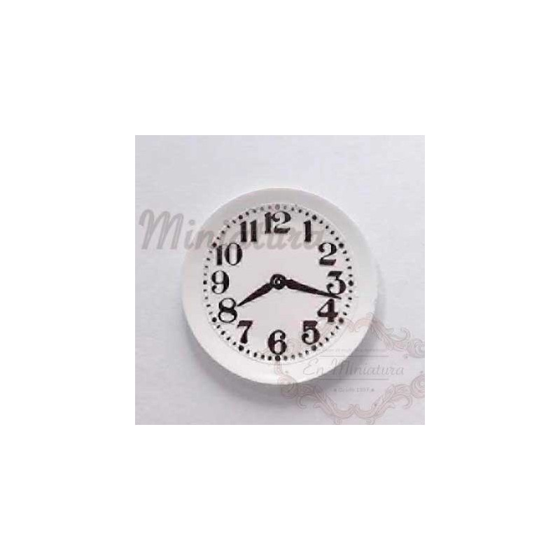 Wall clock on plate