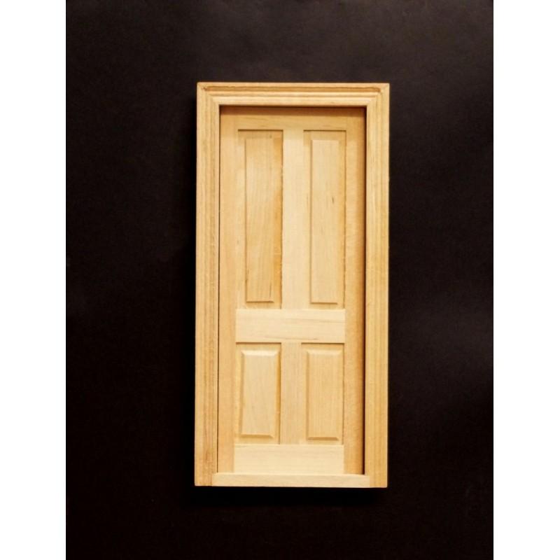 Puerta lisa madera natural