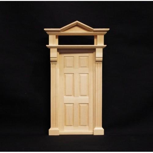 Puerta victoriana madera natural