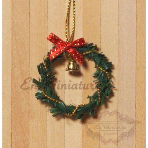 Christmas Miniatures.Christmas Door Ornament Corona Christmas Door Ornament Corona