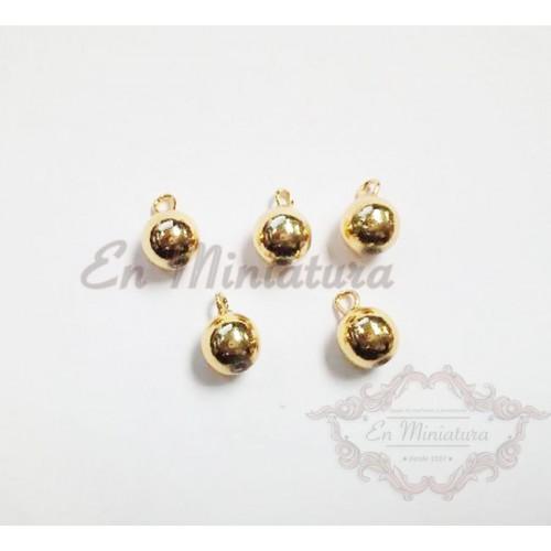 Bolas doradas navidad 5 unidades