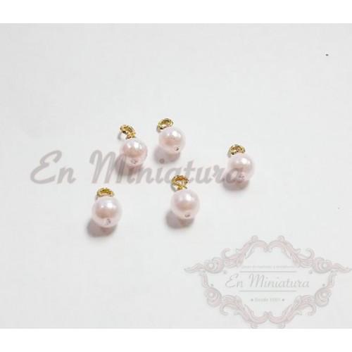 Pearly Christmas balls, 5 units