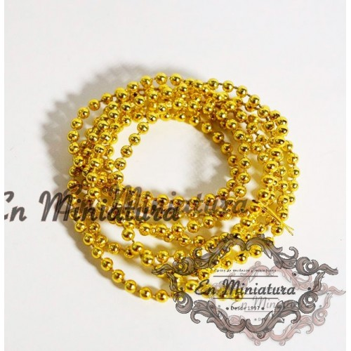 Golden chain of balls