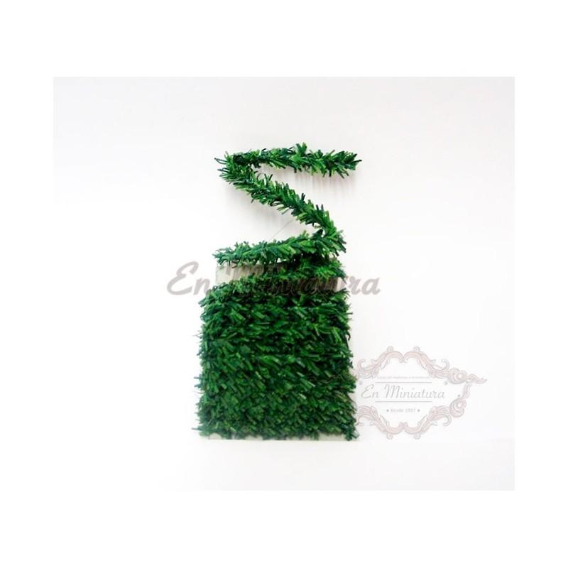 Green garland strip