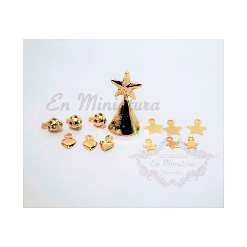 Miniature Christmas Ornaments.Decorative Items To Hang On The Miniature Christmas Tree