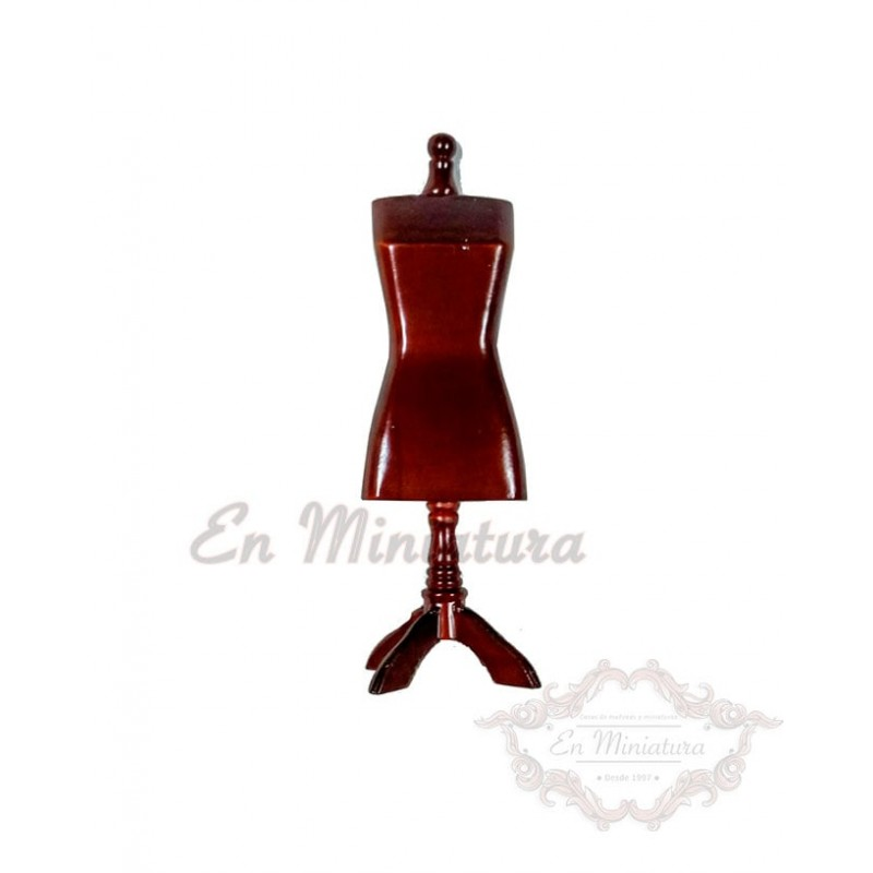 Mannequin in Mahogany Wood