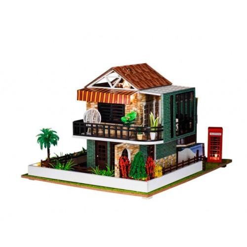 Casa de muñecas completa con luz incluida