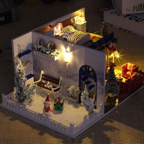Escena de casa completa con luz